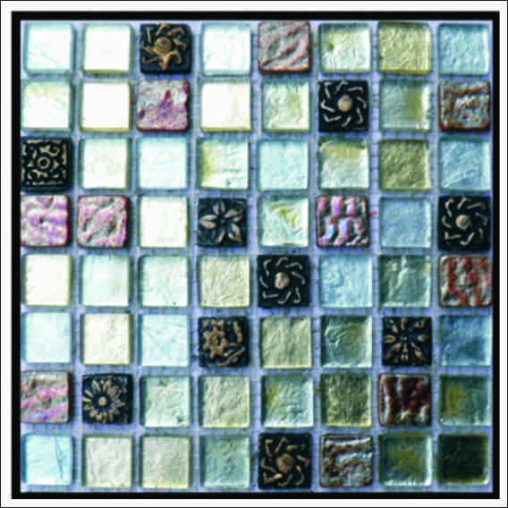 45mmx45mm MOSAIC PACIFIC GREEN FAMILY